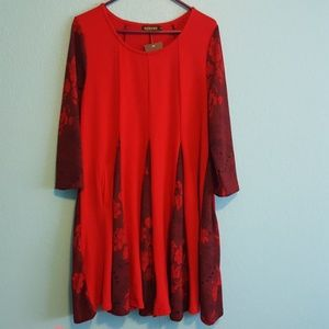 Red new sweater dress